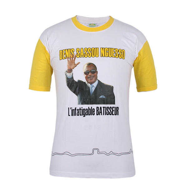 campaign t shirt design Congo Denis Sassou Nguesso in china